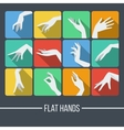 Set of icons in a flat style with a picture vector image vector image