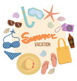 set of things for a beach holiday vector image