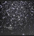 silver glittering star dust vector image vector image