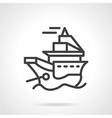 Simple line icon for ship vector image vector image