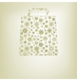 Snowflakes bag template EPS 8 vector image vector image