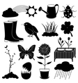 Spring Season Icons Collection vector image