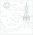 Stock of a Cartoon Flying Rocket Contour vector image vector image