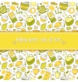 Tea and sweets background vector image vector image