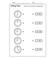 telling time telling time practice for kid vector image vector image