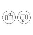 thumb up and down line social media icons vector image