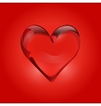 Transparent heart of rock crystal Valentines day vector image vector image