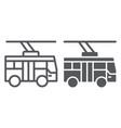 trolleybus line and glyph icon transportation and vector image vector image