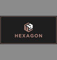 uy hexagon logo design inspiration vector image vector image