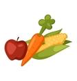 Vegetables food set vector image vector image