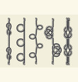 vintage pattern brush rope vector image