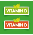 Vitamin D label set vector image vector image