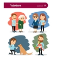 Volunteers care vector image vector image