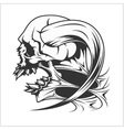 Zombie Skull Head vector image vector image