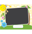 baby summer frame with fun sun contains clipping m vector image