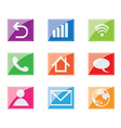 Colorful icons set vector image
