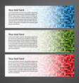 Abstract colorful horizontal banners vector image