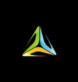 abstract triangle colorful technology logo vector image vector image