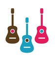 Acoustic guitar is simple colors vector image vector image