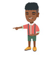 african boy bullying someone and pointing finger vector image