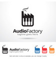 audio factory symbol template design vector image