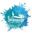 banner with sea sun and surfer vector image