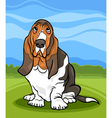 basset hound dog cartoon vector image vector image