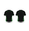 black and green layout football sport t-shirt vector image
