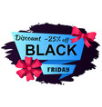 black friday poster special promotion vector image vector image