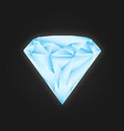 blue shine diamond isolated on black for your vector image vector image