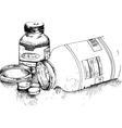 Bottles of pills vector image