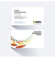 business card template with perspective vector image