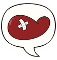 cartoon injured gall bladder and speech bubble vector image vector image