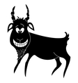 Cheerful goat black silhouette vector image vector image