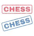 chess textile stamps vector image vector image