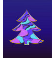 christmas tree card with paper inserts vector image vector image