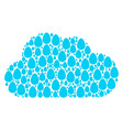 cloud mosaic of egg icons vector image vector image