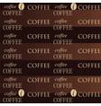 coffee wallpaper brown vector image vector image