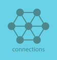 connections glyph color icon vector image vector image