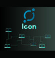 cryptocurrency icon networking background vector image
