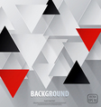 cut triangle paper background vector image