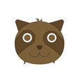 cute cartoon tanuki japanese raccoon dog character vector image vector image