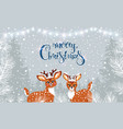 cute two deer winter vector image vector image