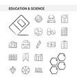 education and science hand drawn icon set style vector image vector image