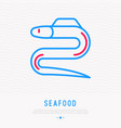 eel thin line icon modern vector image