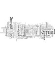 email and newsgroup etiquette vector image vector image