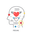 feeling emotions concept vector image vector image