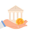 financial institution flat vector image vector image