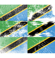 Flag of Tanzania with old texture vector image