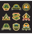 Flat Army Emblem Set vector image